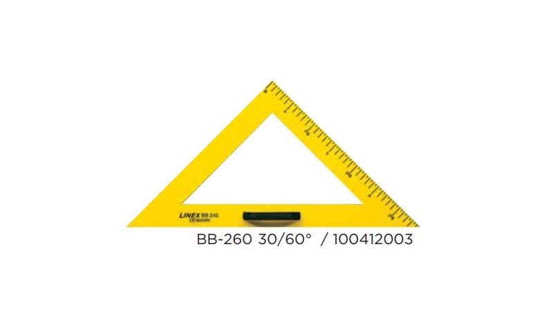 Linex Jumbo Black Board Set Square, 60 Degree (New Lower Price for 2021)