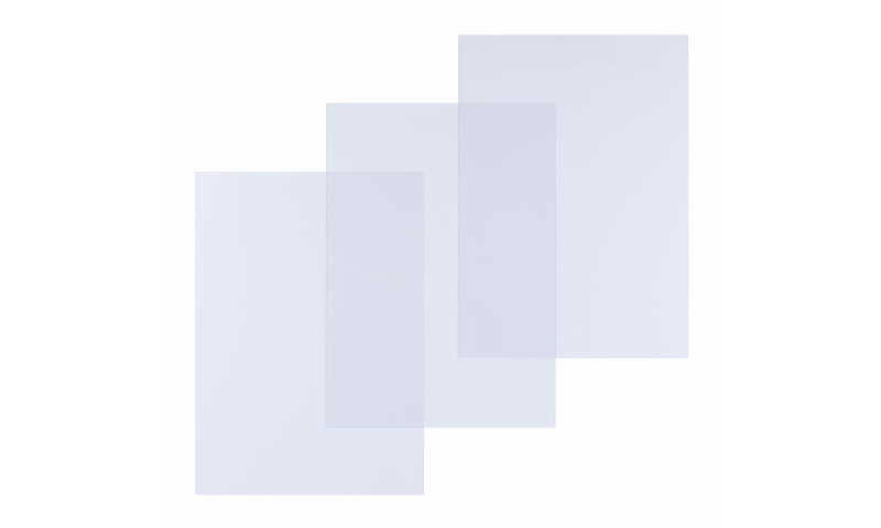 Portfolio A3 Clear PVC Binding Covers, 250mic - Pack 100
