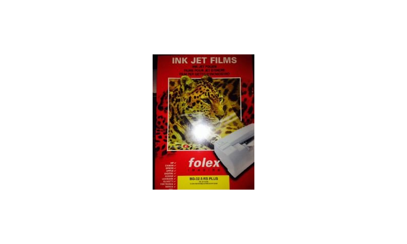 Folex BG 32.5 A3 Clear Ink Jet Transparency HP/Universal With Strip, 50 Sheets