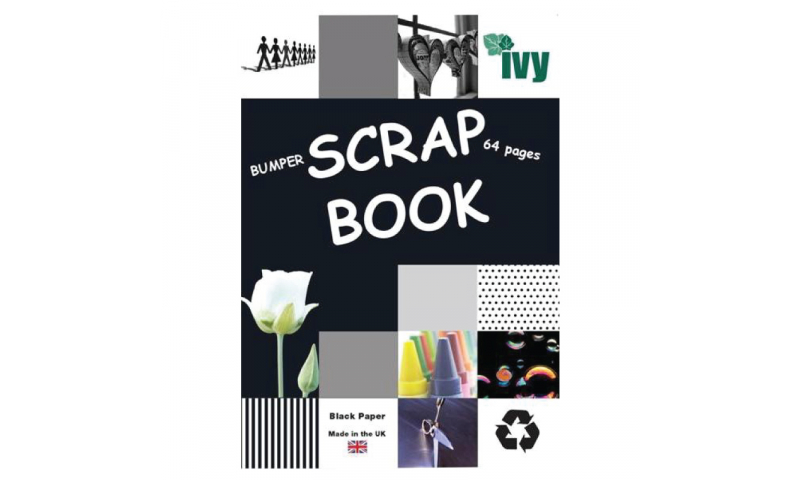 IVY Bumper Black Page Scrap book, 64 Pages