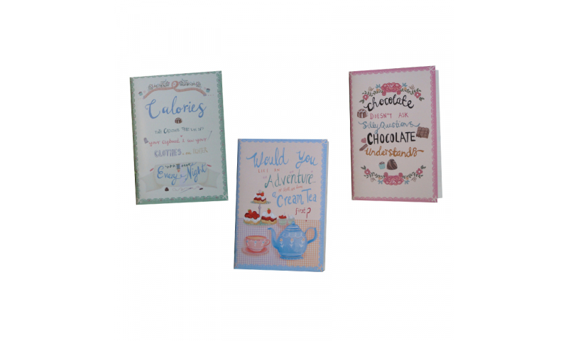 Ivy Nostalgia Notebooks, A6 Size, 100g Paper 64 Pages, Asstd Designs