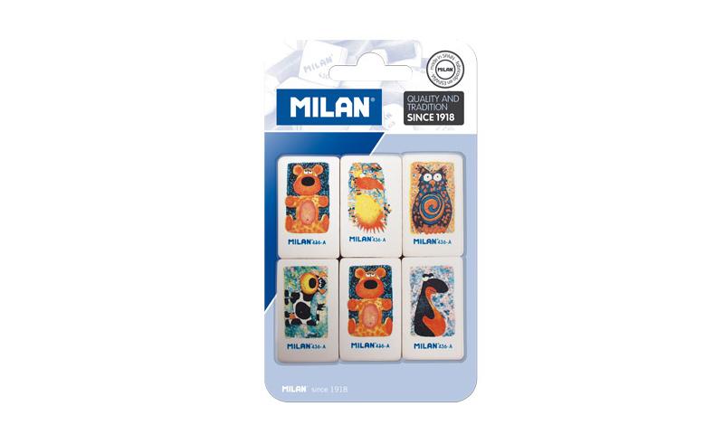Milan Animal Eraser 6 Pack, Asstd (New Lower Price for 2021)
