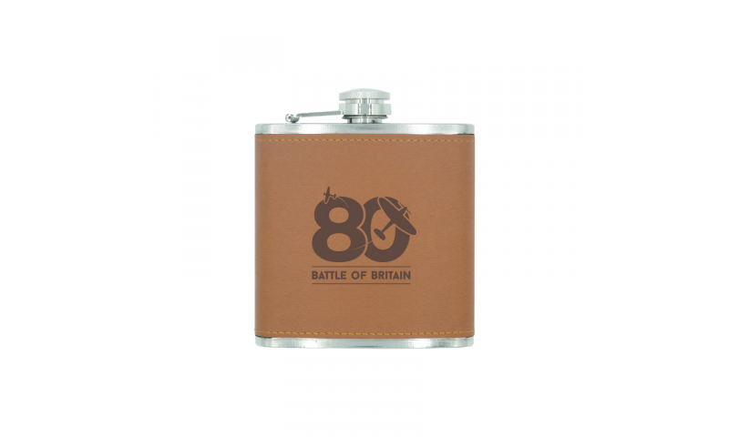 Battle of Britain Leatherette Hip Flask