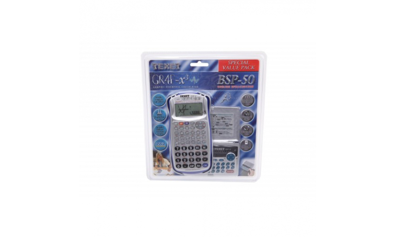 Texet Value Pack, Graphic Scientific Calculator & FREE Spellchecker (New Lower Price for 2021)