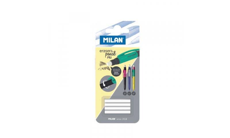 Milan PL1 Pencil replacement erasers - Card of 4