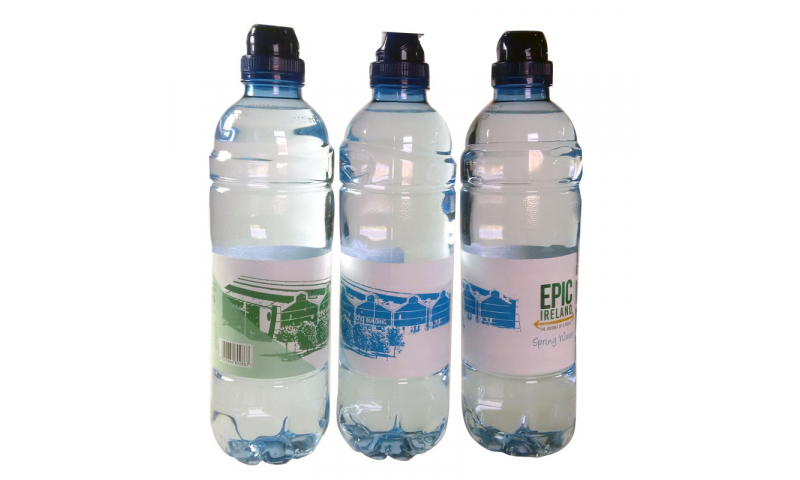 500ml Irish Sparkling  Bottled Water, Full Colour Printed Labelling