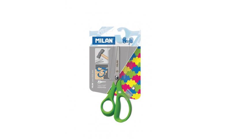 Milan Left Handed Scissors Asstd Colours, Blistercarded (New Lower Price for 2021)