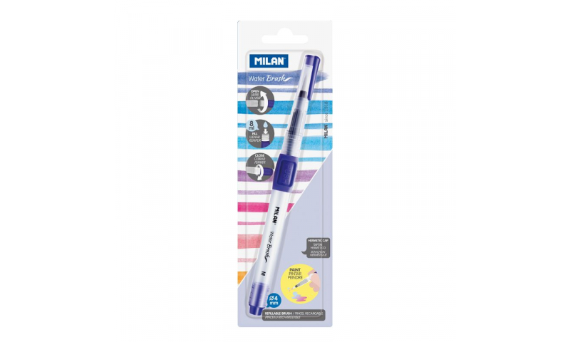 Milan 4mm Water Brush & Container 8ml, Carded (New Lower Price for 2021)