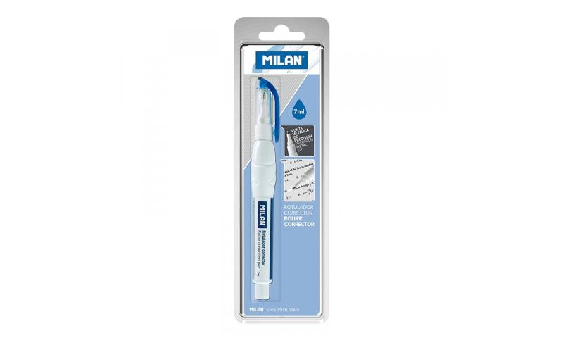 Milan Squeeze Metal Tip Correction Pen 7ml, Hangcarded