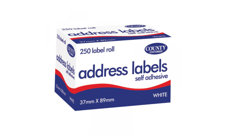 County Stationery Self Adhesive Address Labels 250 Pk (New Lower Price for 2021)