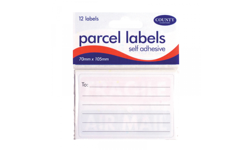 County Stationery 70x105 Parcel Labels 12pk (New Lower Price for 2021)