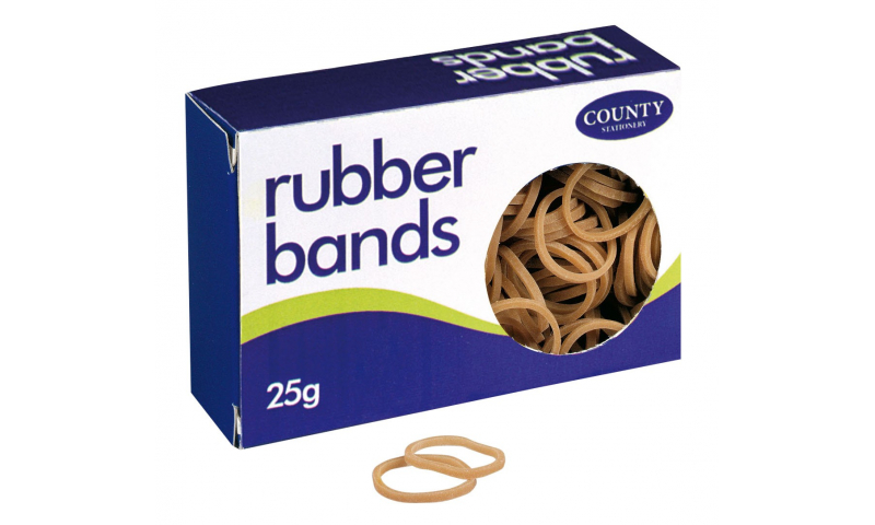County Rubber Bands Small Box 25g, Size No64, Natural