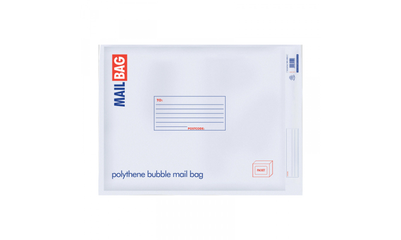 County Stationery Polythene Bubble Bags Jumbo Pack 10, 500 x 650mm (New Lower Price for 2021)