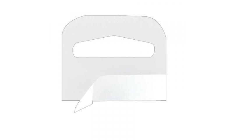 Lynx Euroslot Plastic Self Adhesive Hang Tabs Pack 100