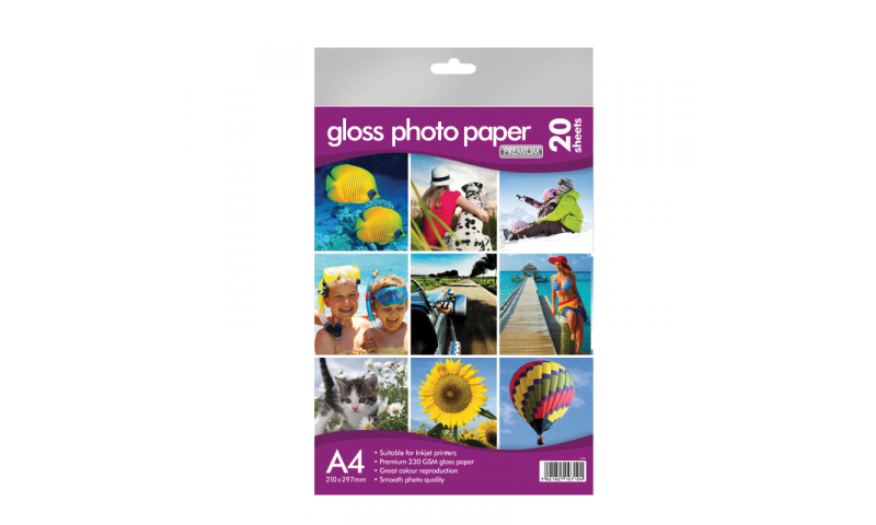 County Stationery A4 230gsm Heavy Inkjet Gloss Photo Paper 25sheets. (New Lower Price for 2021)