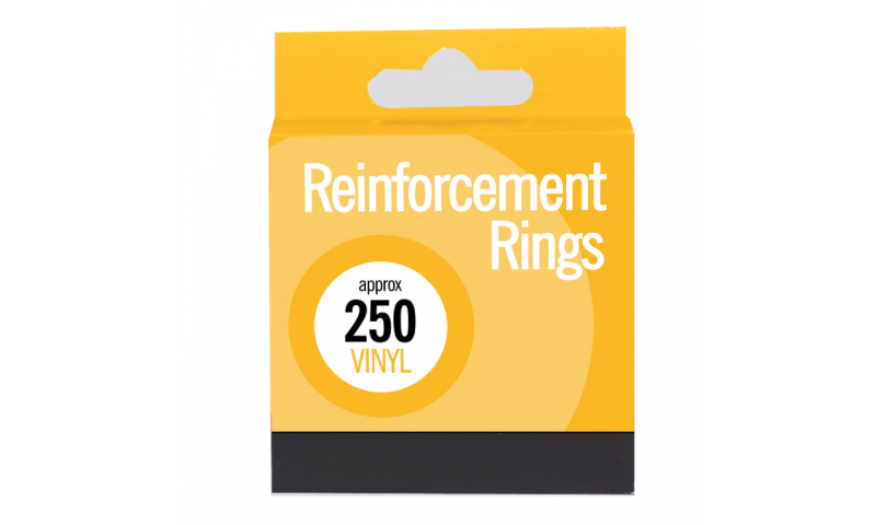 County Stationery 250 Vinyl Reinforcement Rings (New Lower Price for 2021)