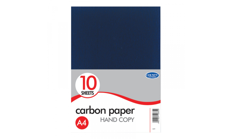 County Stationery 10 Sheets Black Carbon Paper. (New Lower Price for 2021)