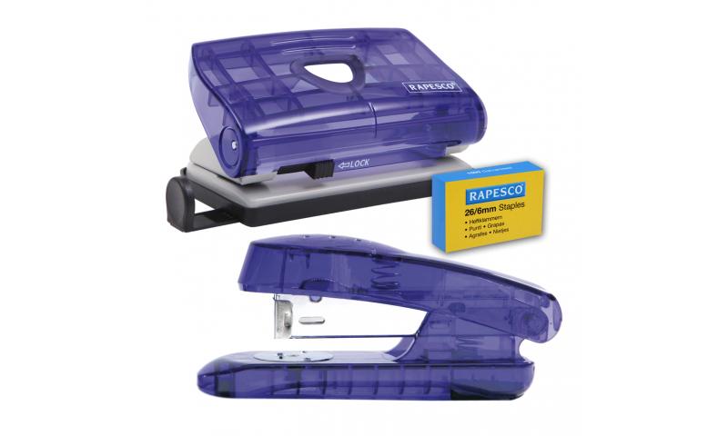 Rapesco Snapper Stapler 26/6 & Perforator Set