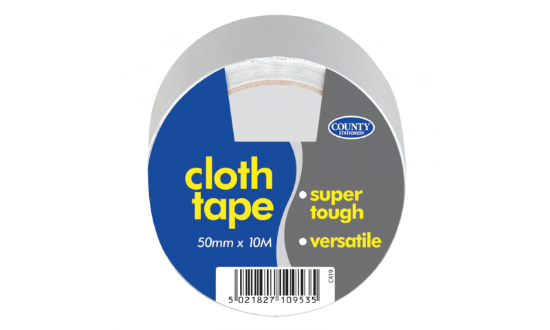 County Stationery Reinforced Cloth Tape 50mm x 10m Very Heavy Duty