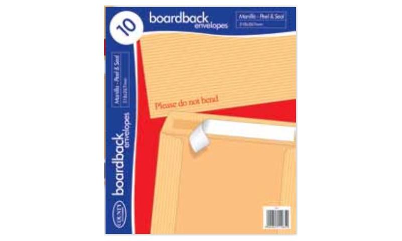 C5 Manilla Board Back Envelopes - Retail 10 Pack