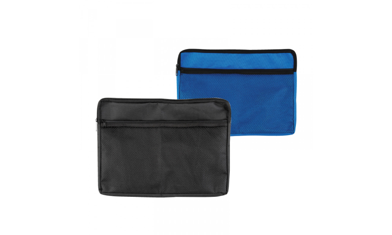 County Stationery Canvas Zipped Bag 3 Asstd  with Front Pocket