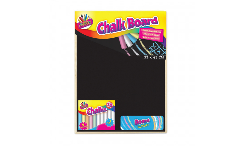 ArtBox Large Chalk Board with Chalk Eraser 60x40cm (New Lower price for 2021)