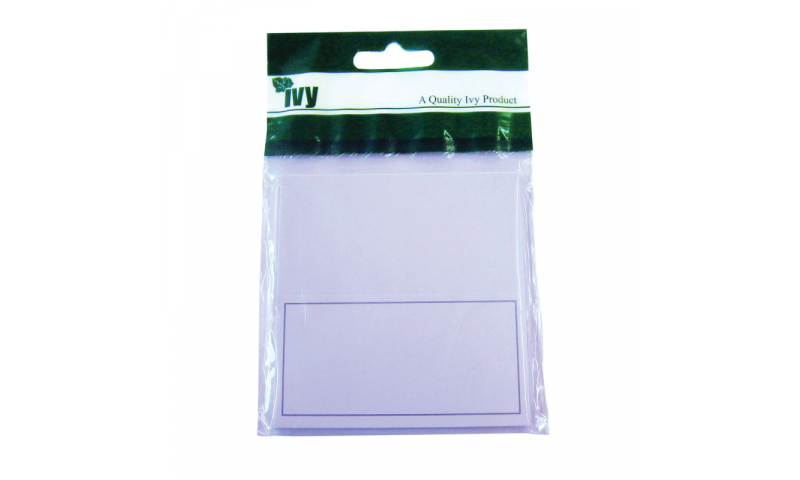 Ivy Luxury Place Cards White/Silver Trim - 88x90mm, 10pk
