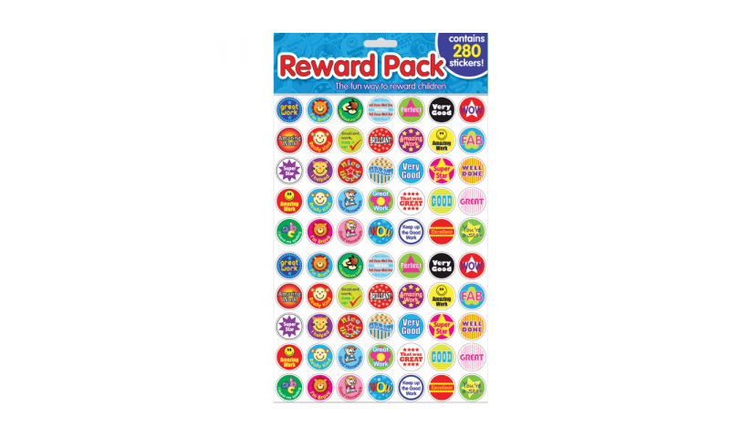 County Stationery Pk 280 Reward Stickers, Hangpack (New Lower Price for 2021)
