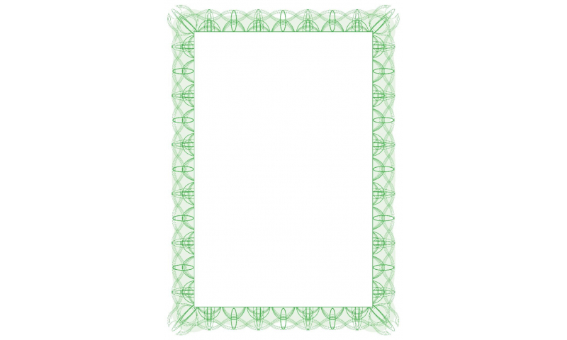 DECADry Computer Craft Certificate Paper A4 90gsm, 30 Sheets, with Border- Green