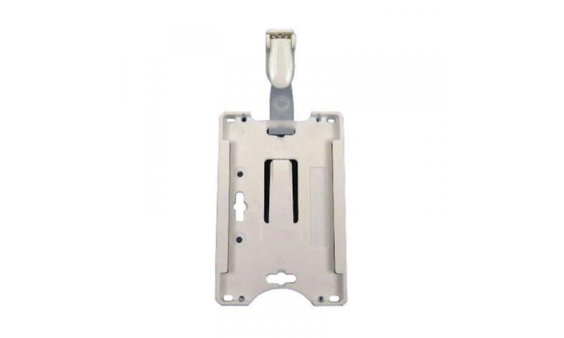 Plastic Credit Card Size Holder with Pocket Clip, Easy Grip & Slide Out For Cards