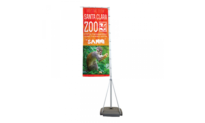 Weighted Boom Flag Banner