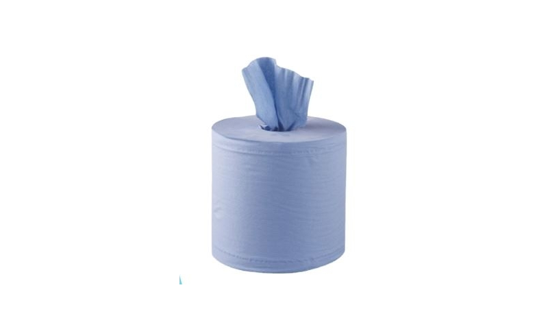 Blue Roll Perforated, Dispense from Centre core, 175mm x 120m, Pack of 6