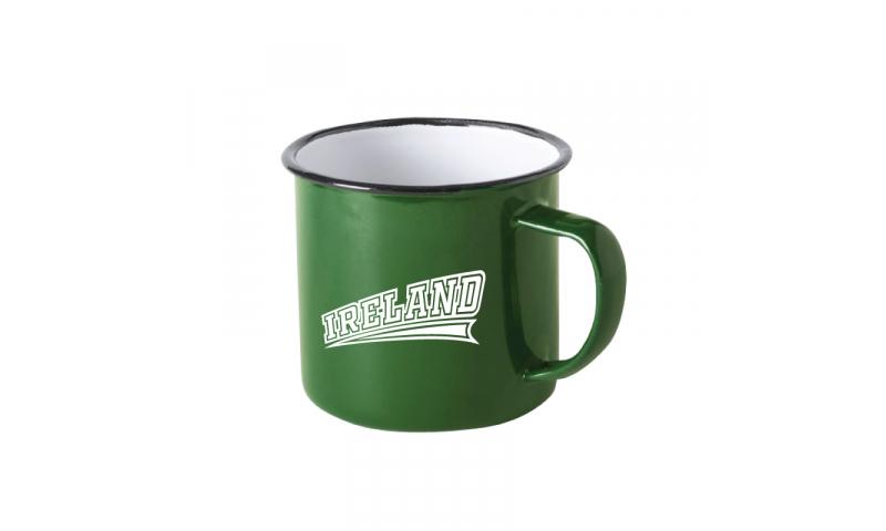 Ireland Tin Enamel Mug