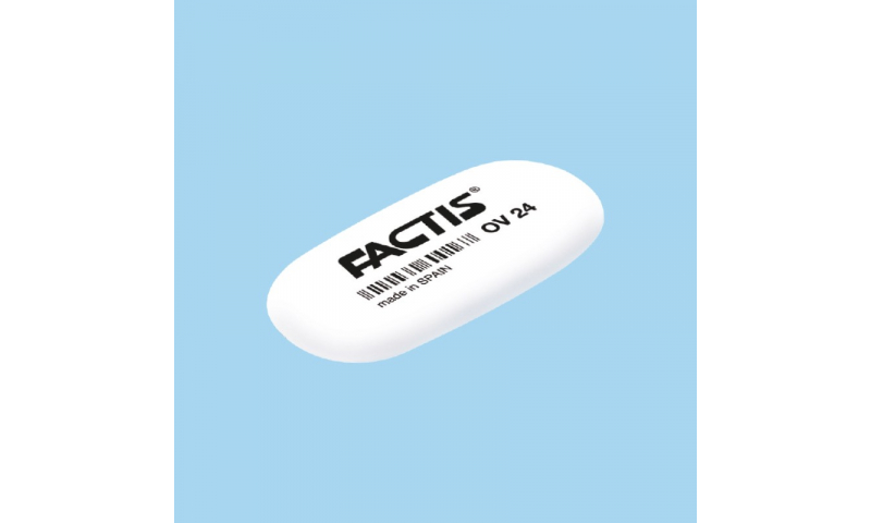 Factis OV24 small Oval Synthetic Rubber Eraser (New Lower Price for 2021)