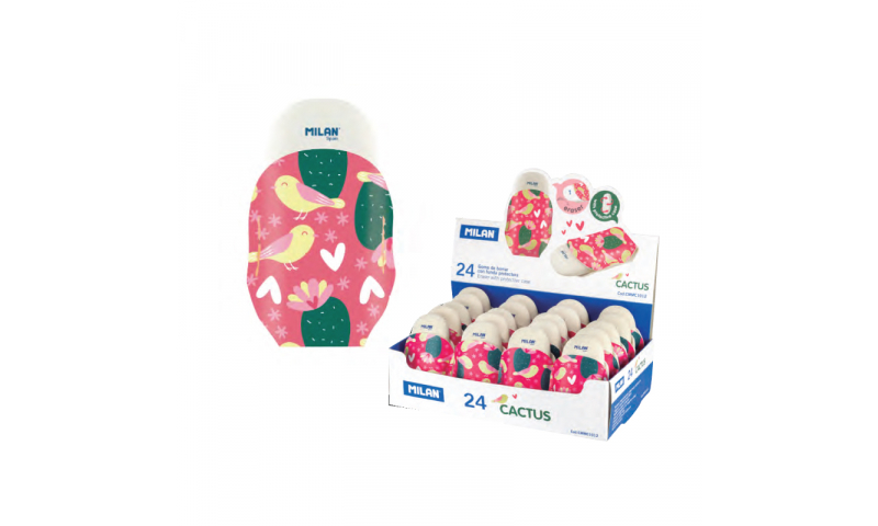 Milan Cactus Eraser & Protective PU Pouch - Limited Edition