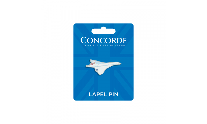 Concorde Shaped Metal Enamel Lapel Pin