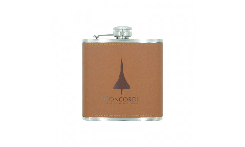 Concorde Leatherette Hip Flask