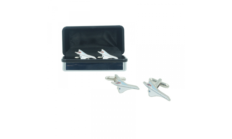 Concord Metal Cufflinks set - boxed Shaped Concord