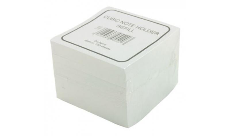 Deflecto 90x90mm Refill Paper Pad 750 Pages, Fits all Std Paper Blocks