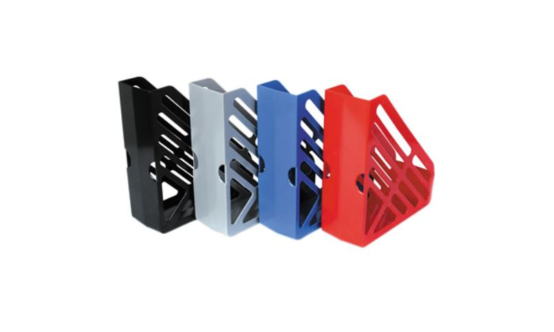 Deflecto A4 PLus Plastic Magazine Files with Easy Pull Grips, 4 Asstd