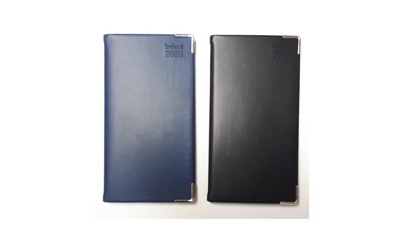Tara Soft Irish Veleta Slim Pocket Diary 2022, Week to View, Cream Paper, Gilt Edges, Gilt Corners, Ribbon Marker, 3 Asstd