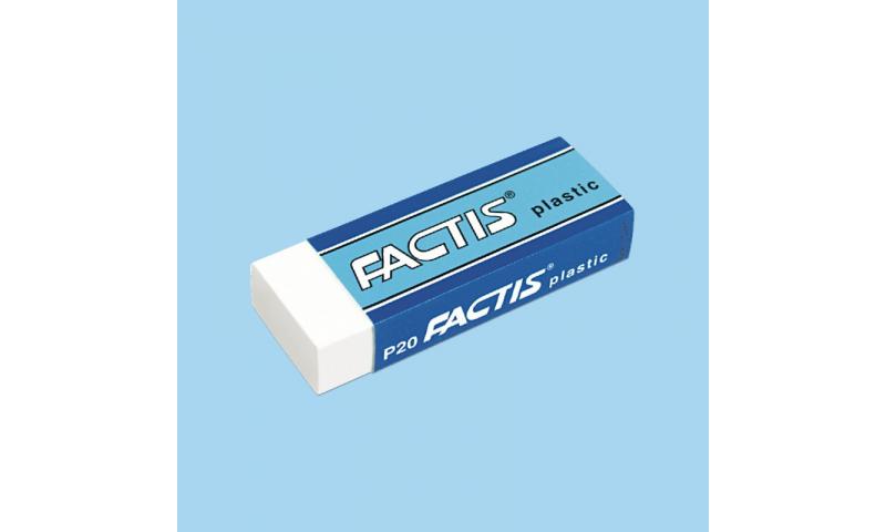 Factis Medium White Plastic Rectangular Pencil Eraser