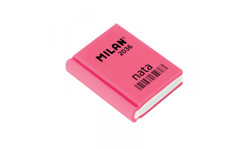 Milan Book Shape Plastic Pencil Erasers 3 Asstd (New Lower Price for 2021)