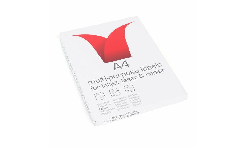 Laser, Ink-Jet, Copier Multi Labels, White, 100 Sht , 14's 99.1x38.1mm (comp L7163)