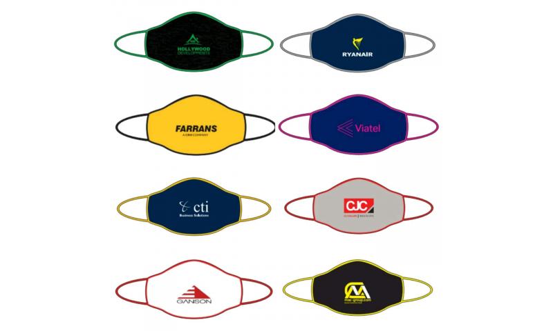 Branded Double Layer Soft Cotton/Polyester Protective Face Mask, Reusable
