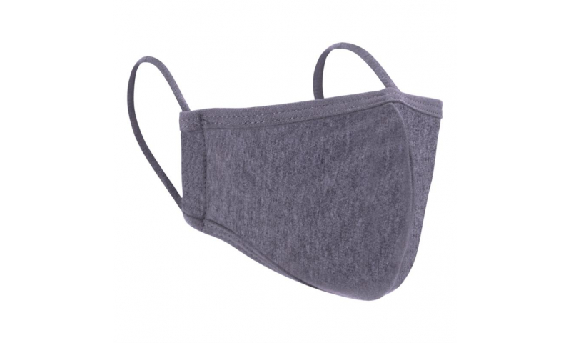 Grey 2ply Cotton/Polyester Re-usable Face Mask