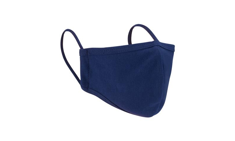 Blue 2ply Cotton/Polyester Re-usable Face Mask