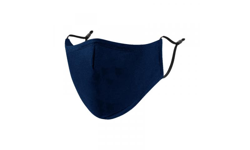 Protective Cotton Re-Useable Washable Face Masks, - Blue