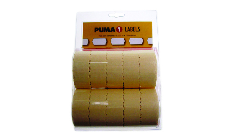Lynx  PUMA Single line labels (CT4) Hanging Pack of 10 x 1500
