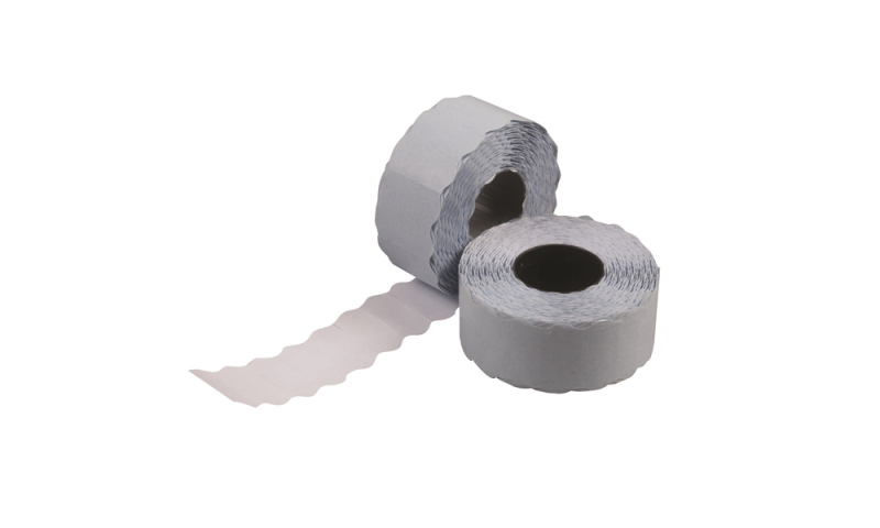 LYNX CT4 Single line Pricing labels, White Permanent, Roll of 1500